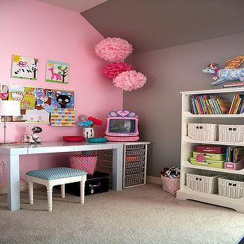 Pink And Gray Tv Room Colors Design Ideas