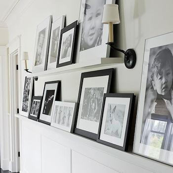 Family Photo Walls, Transitional, entrance/foyer, Benjamin Moore Morning Dew, Traditional Home