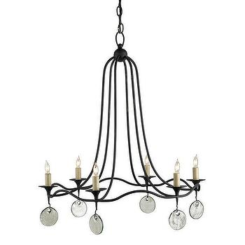 Currey & Company 9823 Dorton 6 Light Chandelier, Lighting Universe