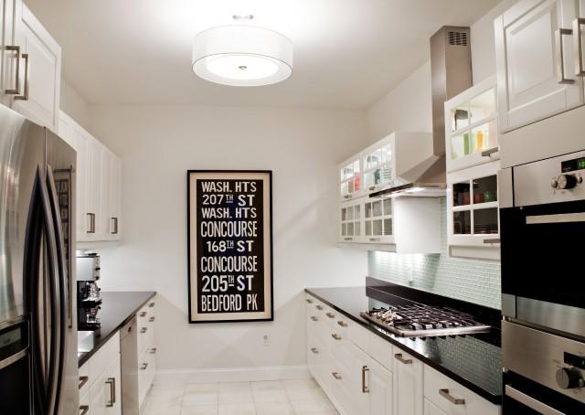 Black And White Galley Kitchen - Contemporary - Kitchen -7780