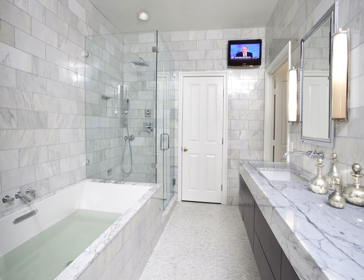 Marble Master Bathroom Contemporary Bathroom Ty