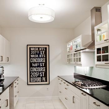 Black and White Galley Kitchen, Contemporary, kitchen, Naked Decor