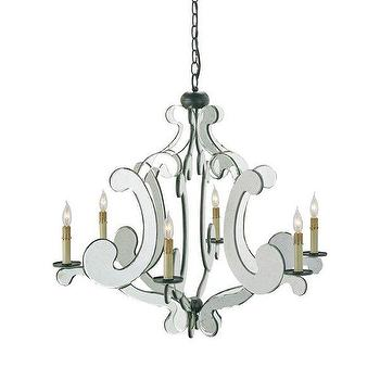 Currey & Company 9187 6 Light Bellamour Chandelier, Lighting Universe