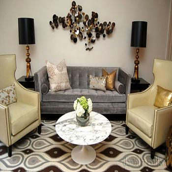 Gray and Yellow living Room, Contemporary, living room, Daniel M Pafford
