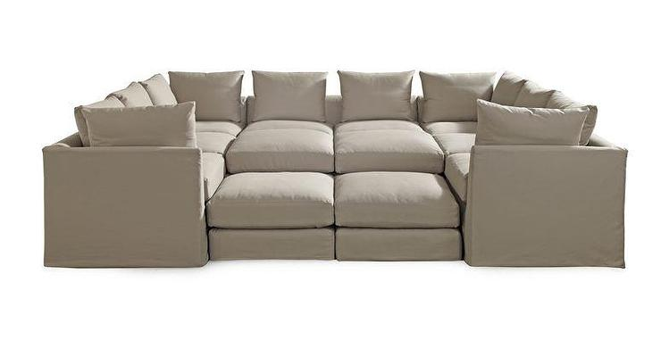 PITT SLIPCOVERED SECTIONAL Available Online ]   Mitchell Gold + Bob Williams
