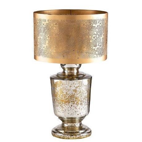 gold mercury glass lamp. Black Bedroom Furniture Sets. Home Design Ideas