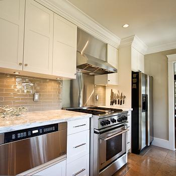 Taupe Kitchen Backsplash