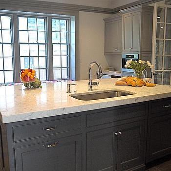 Gray Kitchen Island, Contemporary, kitchen, Cassia Design