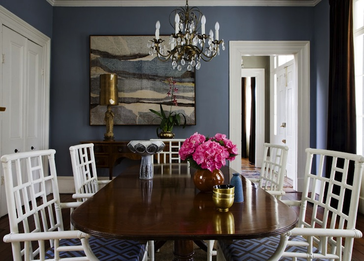 Blue dining room contemporary dining room angie for Dining room ideas in blue