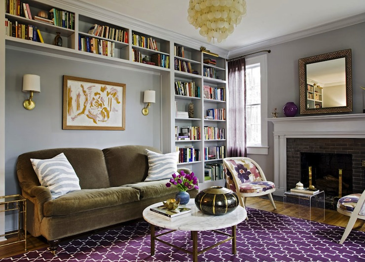 Purple Rug Eclectic Living Room Jenny Keenan