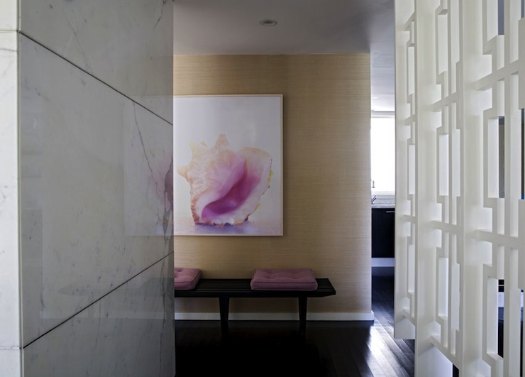 Foyer Room Divider : Geometric room divider eclectic entrance foyer angie