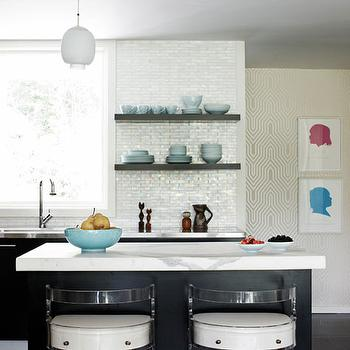 Lucite Bar Stools, Contemporary, kitchen, Angie Hranowski