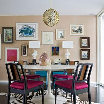 Saarinen Dining Table, Eclectic, dining room, Angie Hranowski
