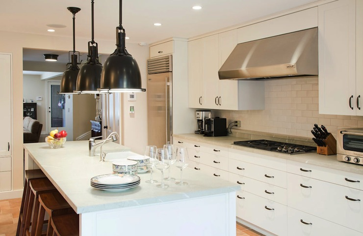 white lacquer kitchen cabinets - contemporary - kitchen - hgtv