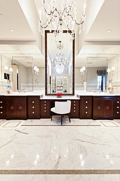 Espresso Bathroom Vanity Traditional bathroom Oxford Development – Bathroom Vanity Chair