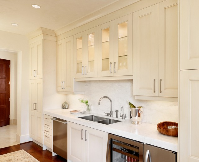 Ivory Kitchen Cabinets Transitional Kitchen Palmer Todd
