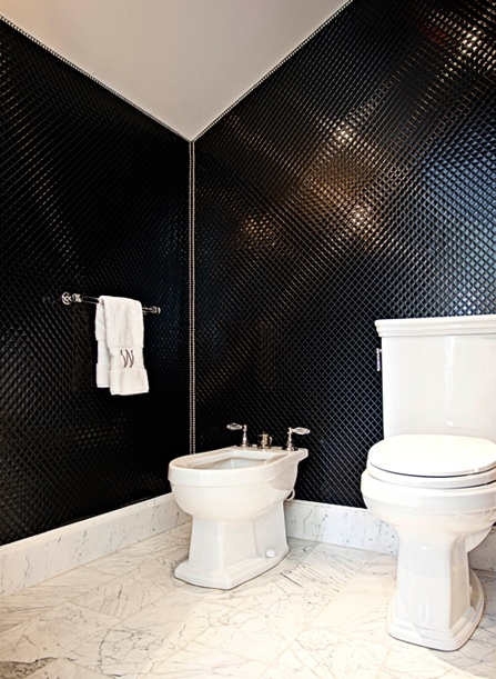 Black And White Bathroom Contemporary Elizabeth Kimberly Design