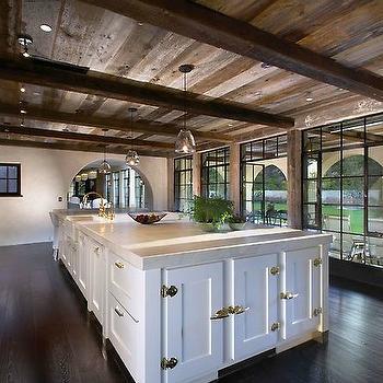 Kitchen Ceiling Beams, Transitional, kitchen, Forest Studio