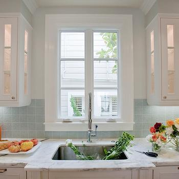 Blue Tile Backsplash, Contemporary, kitchen, Massucco Warner Miller