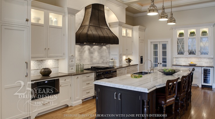 Two Tone Countertops Transitional Kitchen Meredith