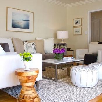 Herringbone Rug, Transitional, living room, Turquoise LA