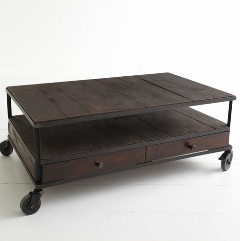 Wisteria French Industrial Coffee Table Look 4 Less