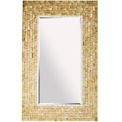 Product Details, Gold Capiz Floor Mirror