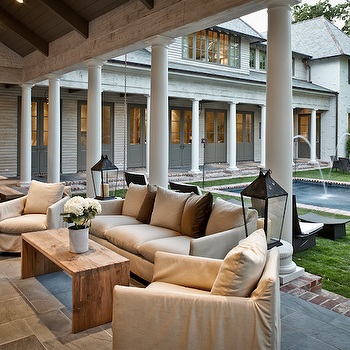 Covered Deck, Transitional, deck/patio, The Owen Group