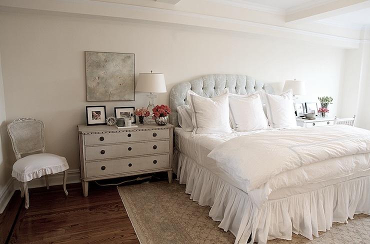 Gray Nightstand French Bedroom Angie Gren Interiors