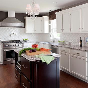 Bianco Antico Granite, Contemporary, kitchen, Valspar Italian Leather, Karen Viscito Interiors