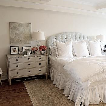 Gray Nightstand, French, bedroom, Angie Gren Interiors