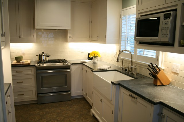 Soapstone Countertops - Transitional - kitchen - Jenny Baines on