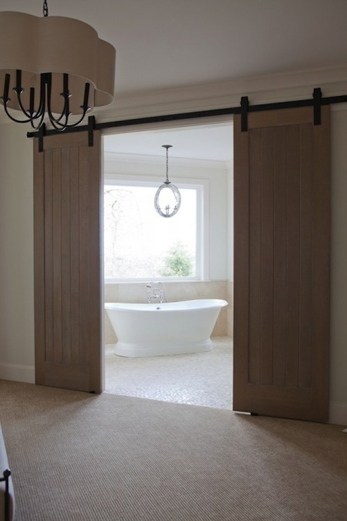 bathroom barn doors transitional bathroom jenny baines