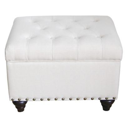 Ivory Tufted Storage Ottoman Bench with Nailhead : Target view full size - Emerald Tufted Storage Ottoman - Products, Bookmarks, Design