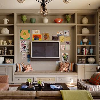 Built In Cabinets, Eclectic, living room, Jeffers Design Group