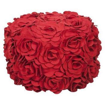 Decorative Dia Pouf Venetian Red : Target