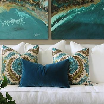 Peacock Blue Pillow