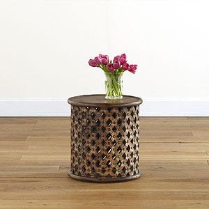 Tribal Carved Wood Accent Table, Living Room Furniture| Furniture, World Market