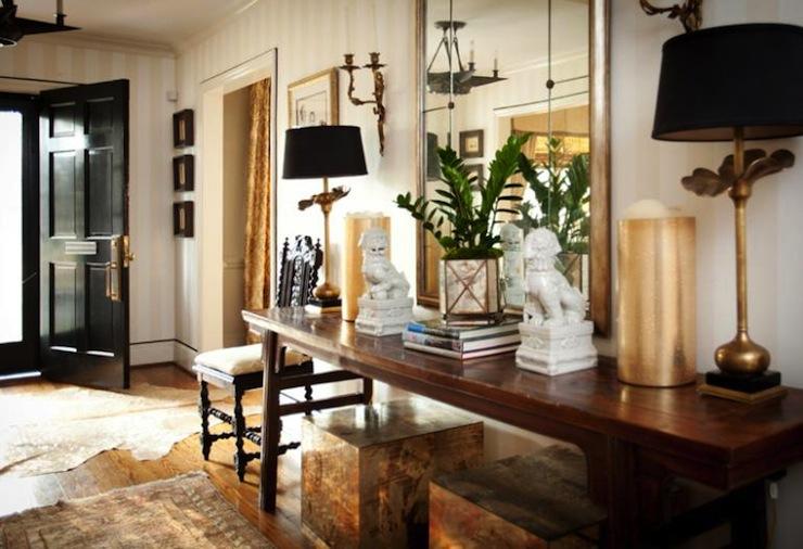 Foyer Interior Urn : White foo dogs eclectic entrance foyer cbb interiors
