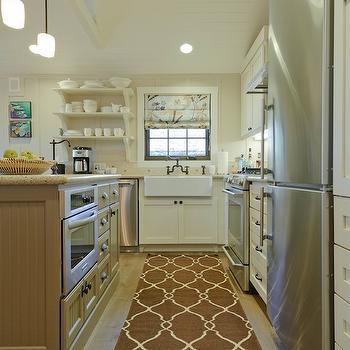 Trellis Runner, Contemporary, kitchen, Sherwin Williams Accessible Beige, Regan Baker Design