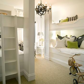 Built In Bunk Beds, Transitional, boy's room, Joy Tribout