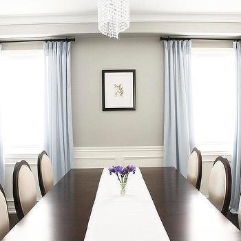 Revere Pewter, dining room, Benjamin Moore Revere Pewter, http://www.amdolcevita.com