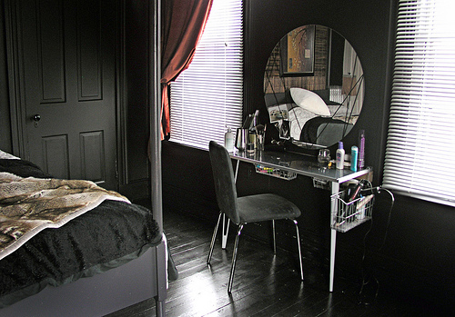 Black Paint Color Contemporary Bedroom Ralph Lauren