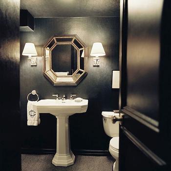 Octagon Mirror, Contemporary, bathroom, Lonny Magazine