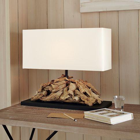 Oblong Driftwood Table Lamp