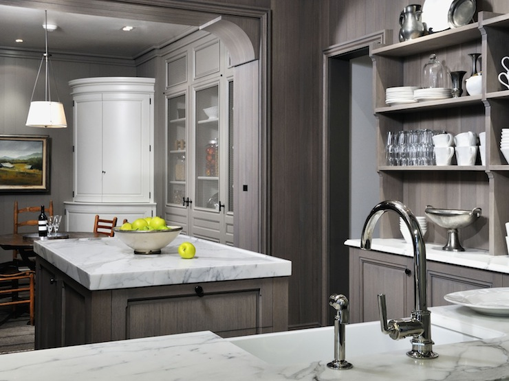 Gray Washed Cabinets Transitional Kitchen Peter Block Caseworks - Beautiful gray kitchens