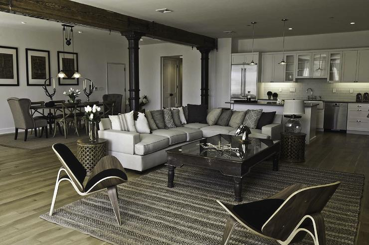 living room, Benjamin Moore Decorators white, Marie Burgos Design