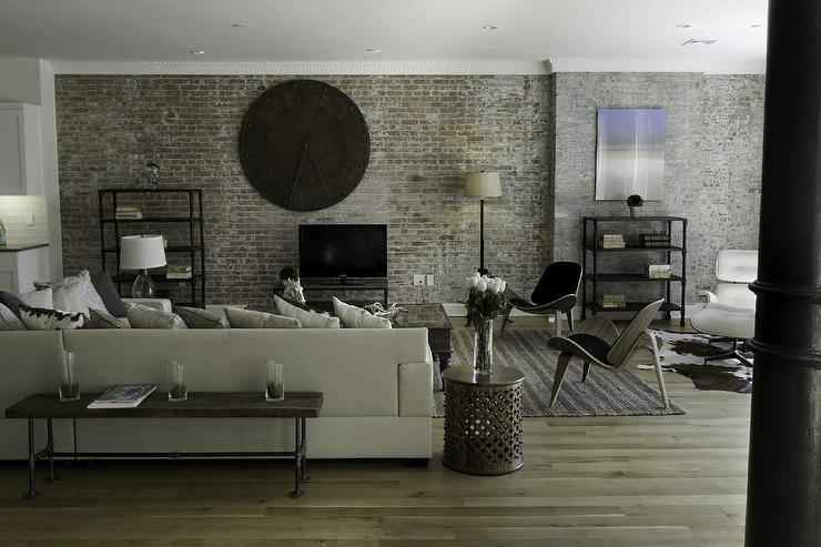 Brick Living Room Ideas Contemporary