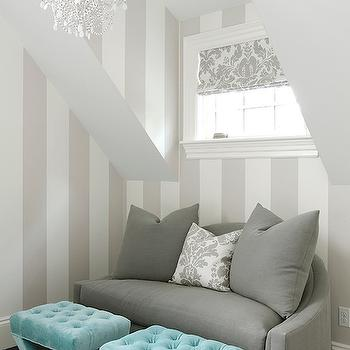 Gray Linen Couch, Contemporary, bedroom, James R. Salomon Photography