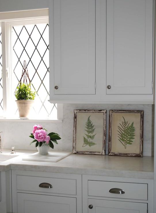 Leaded Glass Windows - Cottage - kitchen - Loi Thai